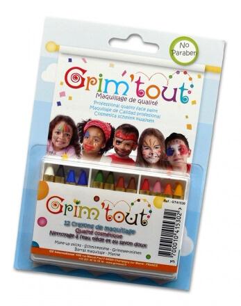 Boîte de 12 crayons à maquillage Grim'tout