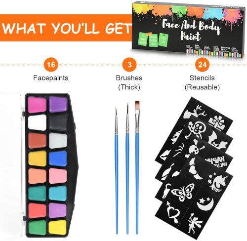 Kit de peinture pour visage des enfants