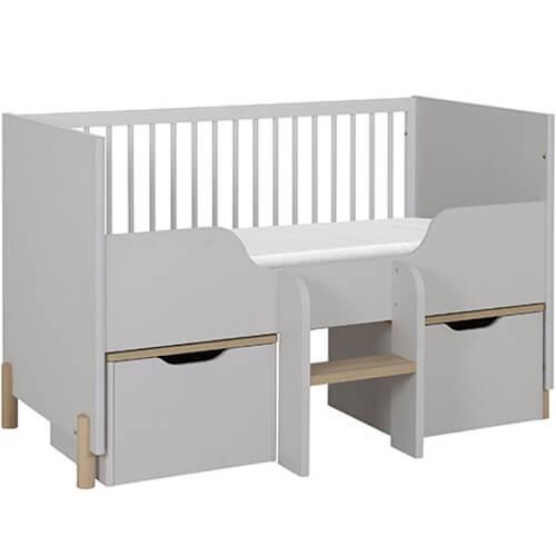 Lit bébé évolutif et caissons mobiles 70x140